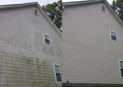 Before and After House Pressure Washing