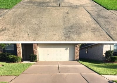 Before and After Pressure Washing Driveway