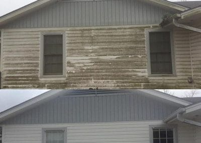 Before and After home exterior cleaning service
