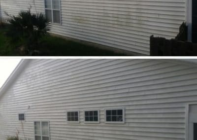 Siding Before and After Soft Washing